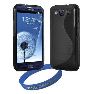 Worldshopping� Black S Line Soft Flexible TPU Gel Case Skin Cover for the Samsung Galaxy S3 SIII i9300 + Free Accessory, A Gift from Worldshopping� Cell Phones & Accessories