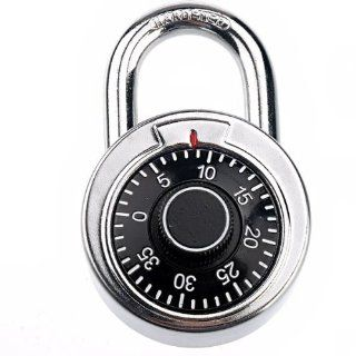 Pixnor CR 209 Swivel Round Plate Style Resettable Combination Lock Password Lock   Combination Padlocks