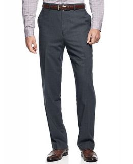 Louis Raphael Dress Pants 100% Wool Endless Comfort Tick Flat Front   Pants   Men