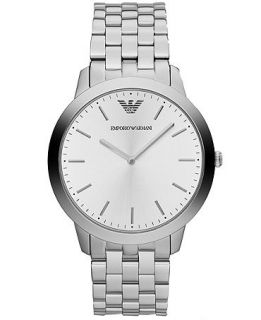 Emporio Armani Watch, Mens Dino Slim Stainless Steel Bracelet 42mm AR1745   Watches   Jewelry & Watches