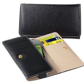 CommonByte Luxury Wallet Leather Case Cover Pouch For iPhone 4 4S S Verizon ATT 4th Gen Cell Phones & Accessories