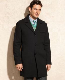 Kenneth Cole Reaction Coat, Notched Collar Wool Blend Over Coat   Coats & Jackets   Men
