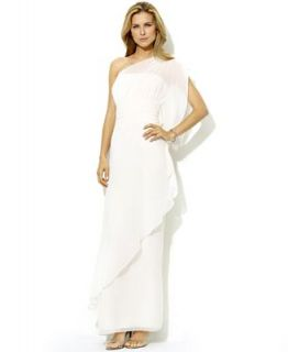 Lauren by Ralph Lauren Dress, One Shoulder Chiffon Gown   Dresses   Women