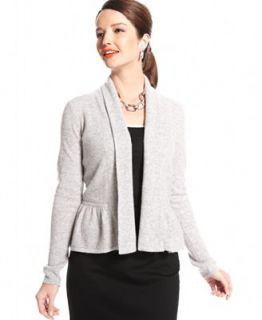 Charter Club Sweater, Long Sleeve Peplum Cashmere Cardigan   Sweaters   Women