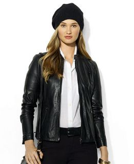 Lauren Jeans Co. Long Sleeve Leather Moto Jacket   Jackets & Blazers   Women