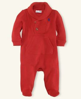 Ralph Lauren Baby Coverall, Baby Boys Shawl Collar Coverall   Kids