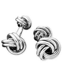 Mens Sterling Silver Love Knot Cuff Links   Jewelry & Watches