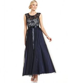 Xscape Dress, Sleeveless Lace Gown   Dresses   Women