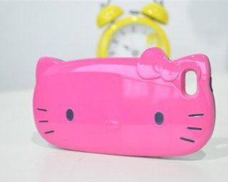 FLETRONMALL NEW ARRIVE 3D HELLO KITTY PLASTIC+SILICONE HARD CASE WITH CARD SLOT COVER FOR IPHONE 5 5G Cell Phones & Accessories