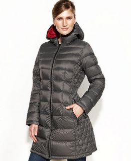 MICHAEL Michael Kors Petite Hooded Quilted Down Packable Puffer   Women