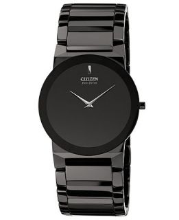 Citizen Unisex Eco Drive Stiletto Blade Black Ceramic Bracelet Watch 39mm AR3055 59E   Watches   Jewelry & Watches