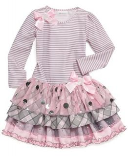 Bonnie Jean Little Girls Striped Drop Waist Dress   Kids