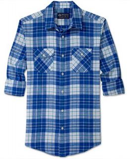 American Rag Shirt, Andy Plaid Flannel   Casual Button Down Shirts   Men