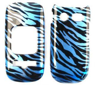 ACCESSORY HARD SNAP ON CASE COVER FOR PANTECH BREEZE III P2030 GLOSS BLUE BLACK ZEBRA Cell Phones & Accessories