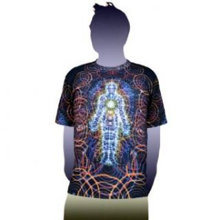 Body and Mind Visionary Art Alex Grey T Shirt  Crystal Tara   CT71 46 Clothing