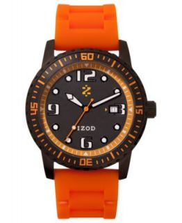 Izod Watch, Unisex Chronograph Black Leather Strap 42mm IZS6 7YELLOWGOLD   Watches   Jewelry & Watches