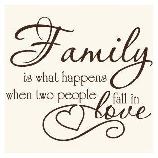 Family Love Quote Vinyl Wall Decal Sticker Art Words/Lettering Home D�cor   Brown Wall Quotes