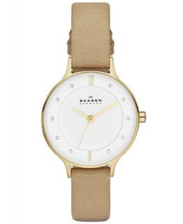 Skagen Denmark Womens Anita Gold Tone Stainless Steel Mesh Bracelet Watch 30mm SKW2150   Watches   Jewelry & Watches