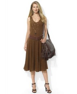 Lauren Ralph Lauren Dress, Sleeveless Linen A Line   Dresses   Women