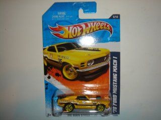 2011 Hot Wheels '70 Ford Mustang Mach 1 Yellow #169/244 Toys & Games