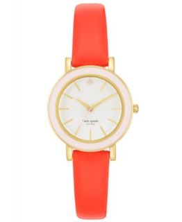 kate spade new york Watch, Womens Metro Orange Alligator Embossed Leather Strap 34mm 1YRU0194   Watches   Jewelry & Watches