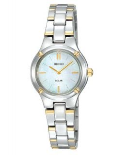 Seiko Watch, Womens Solar Two Tone Stainless Steel Bracelet 28mm SUP066   Watches   Jewelry & Watches