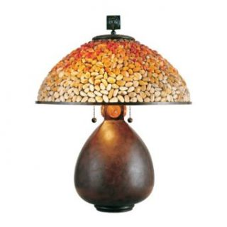 Quoizel Pomez Tiffany 2 Light Table Lamp