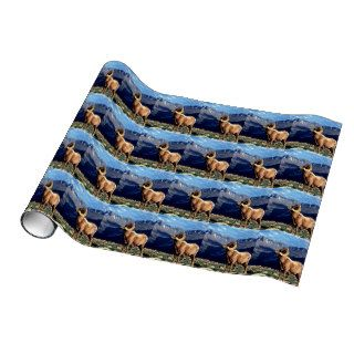 Deer Big Horn Ram Rocky Mountain Gift Wrap Paper