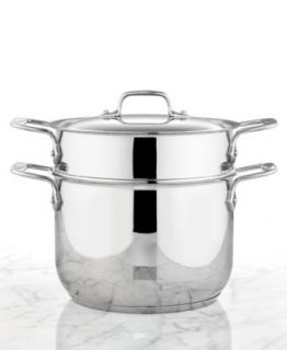 All Clad Stainless Steel 12 Qt. Covered Multi Pot with Pasta & Steamer Inserts   Cookware   Kitchen