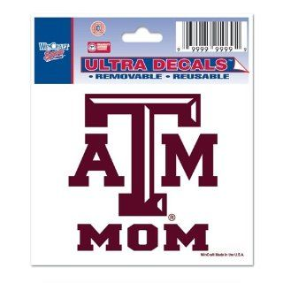 "Texas A&M Aggies University ""Mom"" Colored Ultra Decal 3x3.75  Sports Fan Decals  Sports & Outdoors"