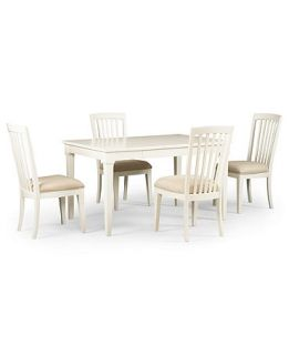 Sanibel Dining Room Furniture, 5 Piece Set (Rectangular Table and 4 Side Chairs)   Furniture