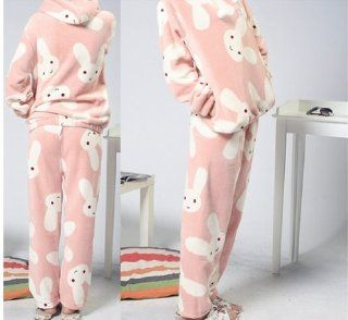 Qyz@cute Cartoon Women's Pajamas Suitable for Autumn&winter (L(height158 166cm bust104cm sleeve58cm shoulder41cm hip116cm pants97cm))  Beauty Products  Beauty