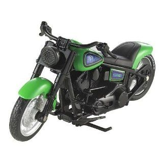 Hot Wheels Street Power Green Motorcycle with Purple Decals Fat Ride, W5421 Toys & Games