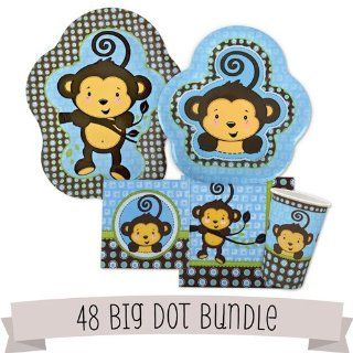 Monkey Boy Baby Shower Tableware   48 Big Dot Bundle Toys & Games