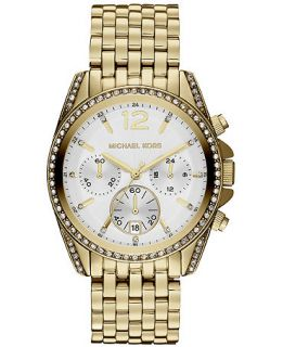 Michael Kors Womens Chronograph Pressley Gold Tone Stainless Steel Bracelet Watch 39mm MK5835   Watches   Jewelry & Watches