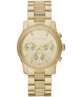 Michael Kors Womens Chronograph Runway Gold Tone Stainless Steel Bracelet Watch 38mm MK5826   Watches   Jewelry & Watches