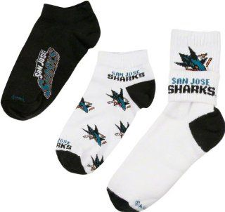 San Jose Sharks Women's 3 Pair Sock Pack  Sports Fan Socks  Sports & Outdoors