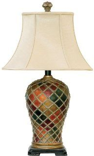 Dimond Lighting 91 152 18 by 30 Inch Joseph 1 Light Traditional Table Lamp, Bellevue Finish   Table Lamp Tiffany