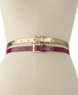 Fossil Haircalf Skinny Waist Belt   Handbags & Accessories
