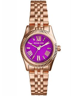 Michael Kors Womens Mini Lexington Rose Gold Tone Stainless Steel Bracelet Watch 26mm MK3273   Watches   Jewelry & Watches