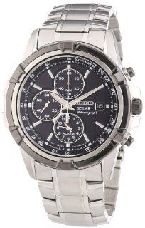 Seiko Men's SSC147 Silver Stainless Steel Quartz Watch with Black Dial at  Men's Watch store.