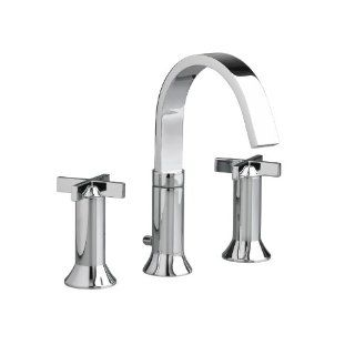 American Standard 7430.821.002 Berwick 2 Cross Handle Widespread Faucet, Polished Chrome   Bathroom Sink Faucets