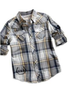 Guess Kids/designer Classics Boys 8 20 Webster Plaid Woven (Large(16/18)) Clothing