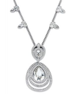 Swarovski Jewelry Set, Clear Crystal and Glass Pearl Pendant and Stud Earrings Set   Fashion Jewelry   Jewelry & Watches