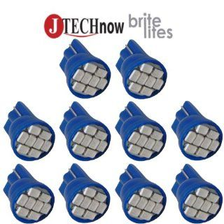 Jtech 10x T10 8 SMD Blue LED Car Lights Bulb W5W, 147, 152, 158, 159, 161, 168, 184, 192, 193, 194 2825 Automotive