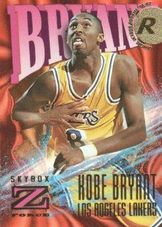 1996 97 SkyBox Z Force Basketball #142 Kobe Bryant RC Los Angeles Lakers NBA Rookie Trading Card at 's Sports Collectibles Store
