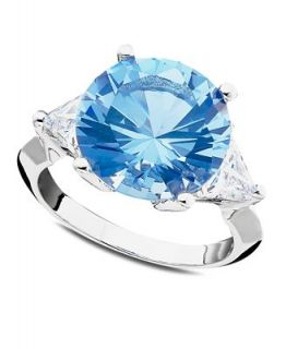 CRISLU Ring, Platinum over Sterling Silver Aquamarine Ring (8 ct. t.w.)   Fashion Jewelry   Jewelry & Watches