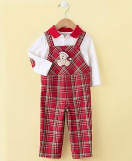 First Impressions Babys First Christmas Coverall, Baby Boy Plaid Coverall   Kids