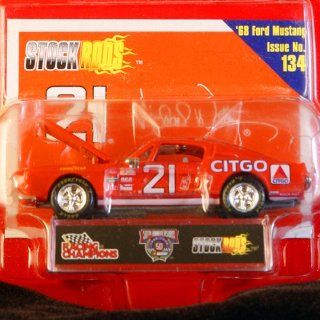 Racing Champions   Stock Rods Series   3.25 inch Replica   NASCAR 50th Anniversary Limited Edition   Michael Waltrip #21   1968 Ford Mustang   CITGO   Issue #134 Toys & Games