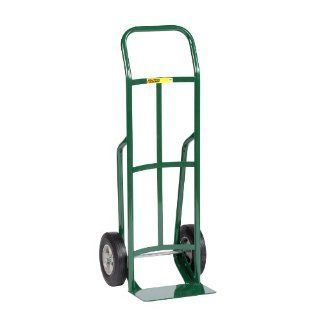 "Little Giant T 132 10 Steel Industrial Strength Hand Truck with Continuous Handle, 10"" Solid Rubber Tire Wheel, 800 lbs Capacity, 47"" Height"